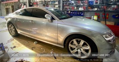 Audi A7 Wrap (Dán) Đổi Màu Trắng Thành Xám Bạc Bóng Như Sơn - Đẹp - Sang Trọng Tại Cao Sang