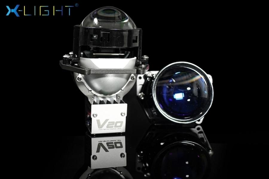 BI LED X-LIGHT V20 NEW 2021 - Ánh sáng mịn màng, bám đường