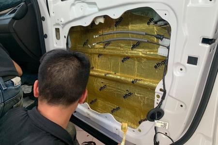 Cách âm chống ồn 4 cánh cửa cho xe ô tô 7 chỗ - Hình 3