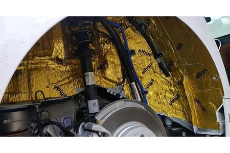 Cách âm chống ồn 4 hốc bánh cho xe ô tô 4 chỗ - Hình 5
