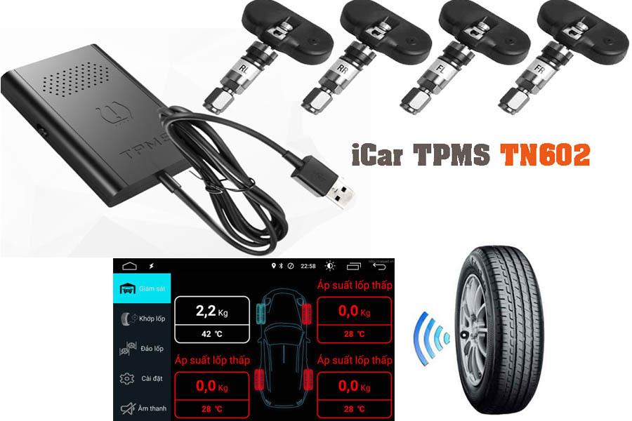 Cảm biến áp suất lốp kết nối USB iCar TN602 - Hình 1