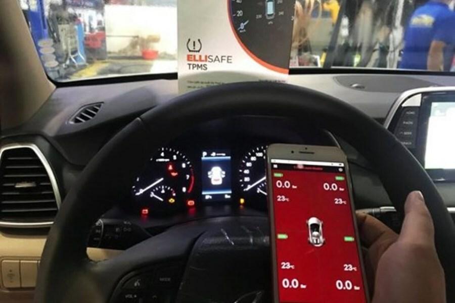 Cảm biến áp suất lốp theo xe ELLISAFE i3X (hiển thị ODO) quản lý bằng điện thoại - Hình 2