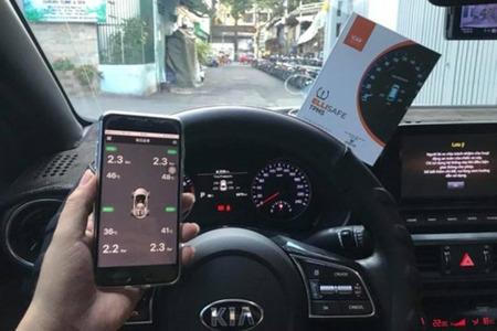 Cảm biến áp suất lốp theo xe ELLISAFE i3X (hiển thị ODO) quản lý bằng điện thoại - Hình 3