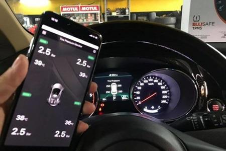 Cảm biến áp suất lốp theo xe ELLISAFE i3X (hiển thị ODO) quản lý bằng điện thoại - Hình 4
