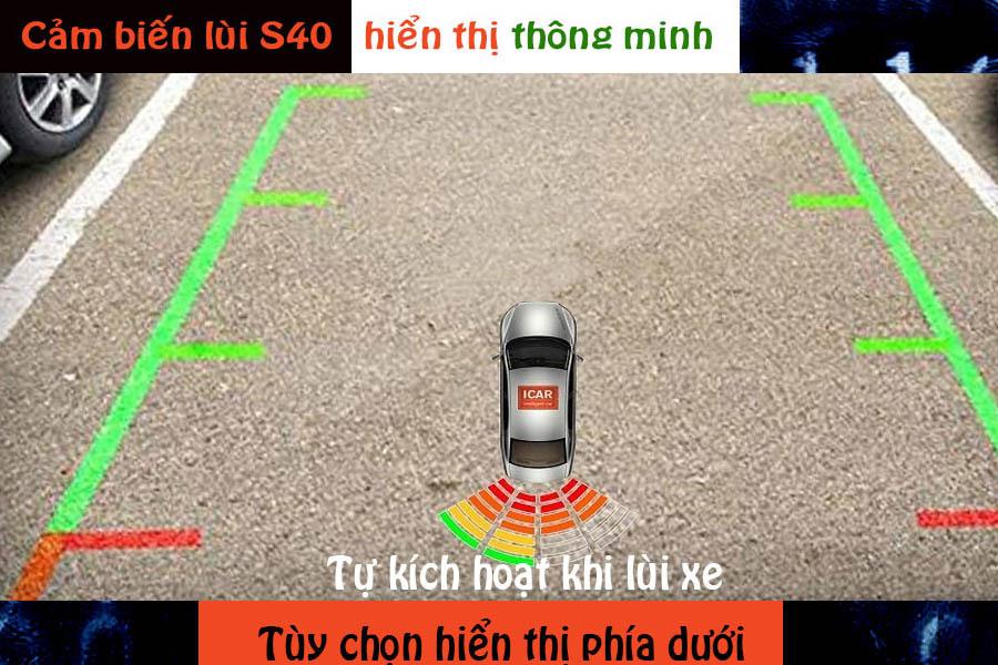 Cảm biến lùi 4 mắt hỗ trợ đỗ xe ICar Parking S40 - Hình 2