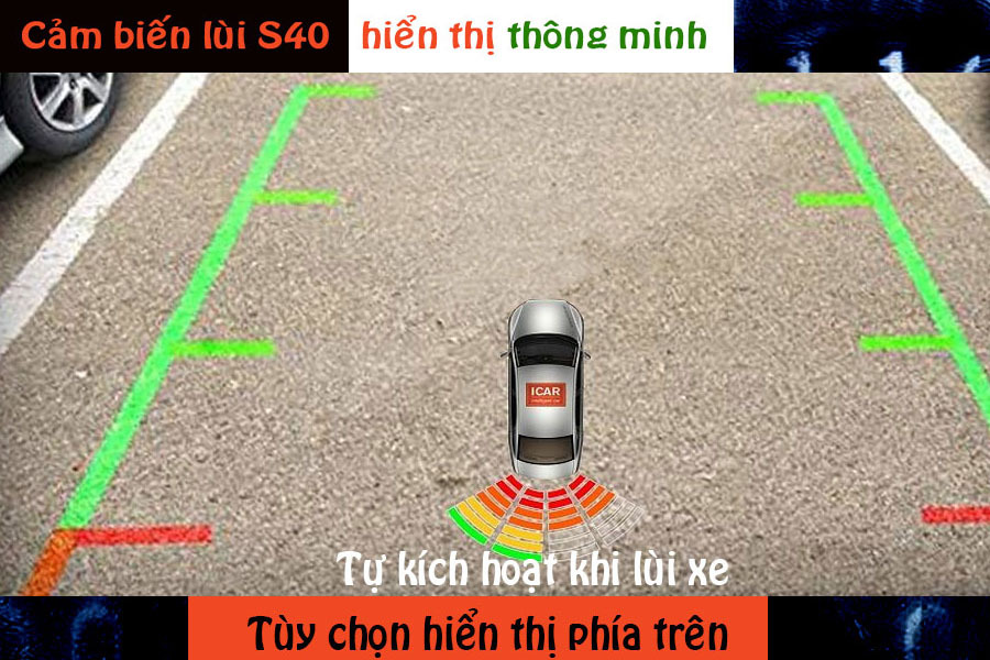 Cảm biến lùi 4 mắt hỗ trợ đỗ xe ICar Parking S40 - Hình 1