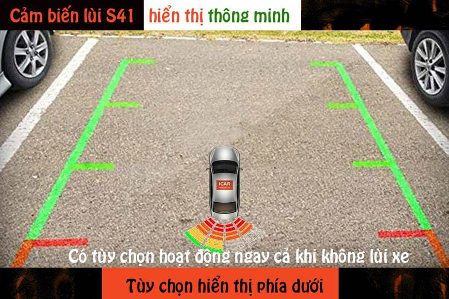 Cảm biến lùi 4 mắt hỗ trợ đỗ xe ICar Parking S41 - Hình 2