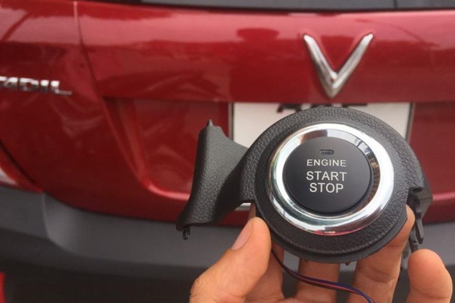 Nút bấm Start/Stop sẽ được thi công lắp đặt ngày trên ổ khóa cơ cũ