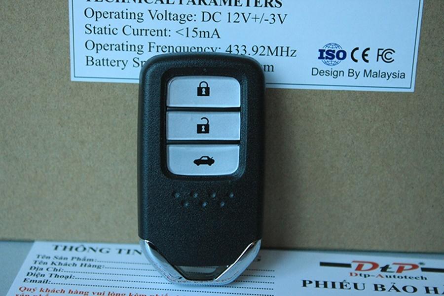Chìa khóa thông minh cho Oto Smartkey Ntek For Honda City 2013 – 2016 - Hình 2