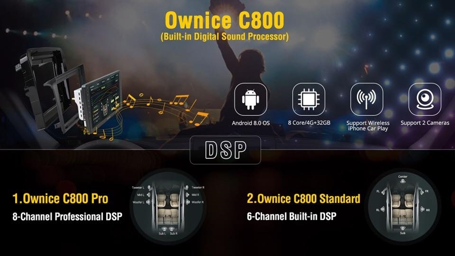 Ownice C800 Pro (DSP 8 kênh)