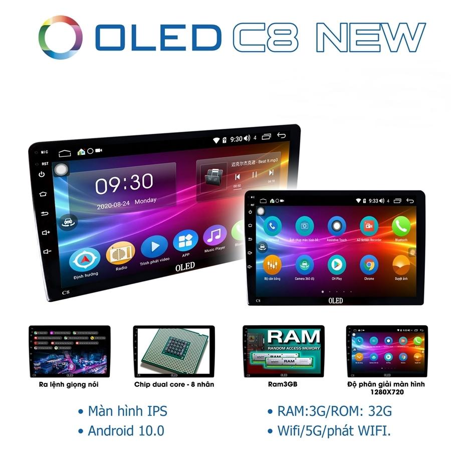 Màn hình DVD Android Oled C8 New