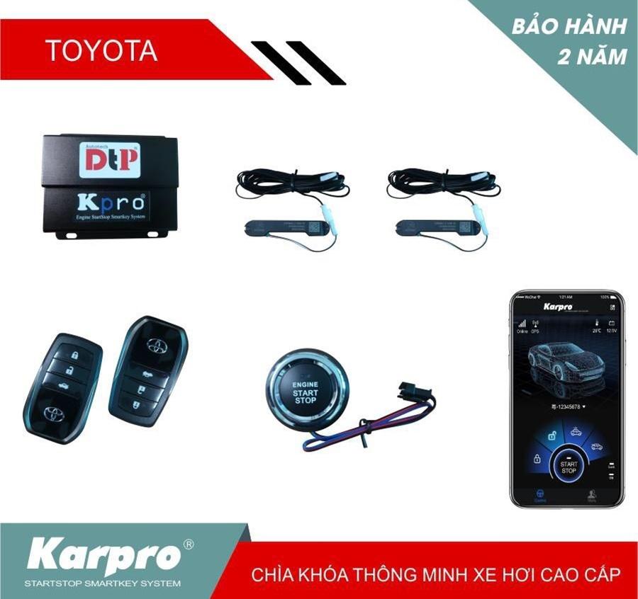 Độ chìa khóa thông minh Smartkey Karpro cho các dòng xe Toyota