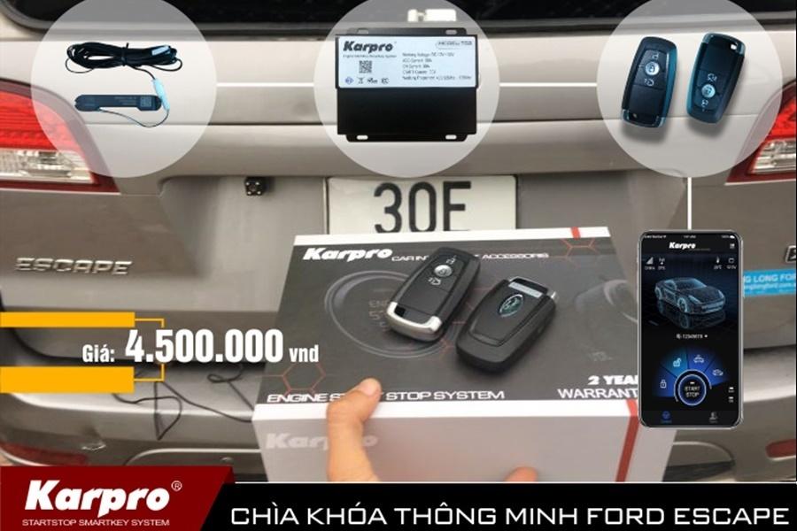 Độ Khóa Thông Minh Ô tô Karpro | Smartkey Ford Ranger