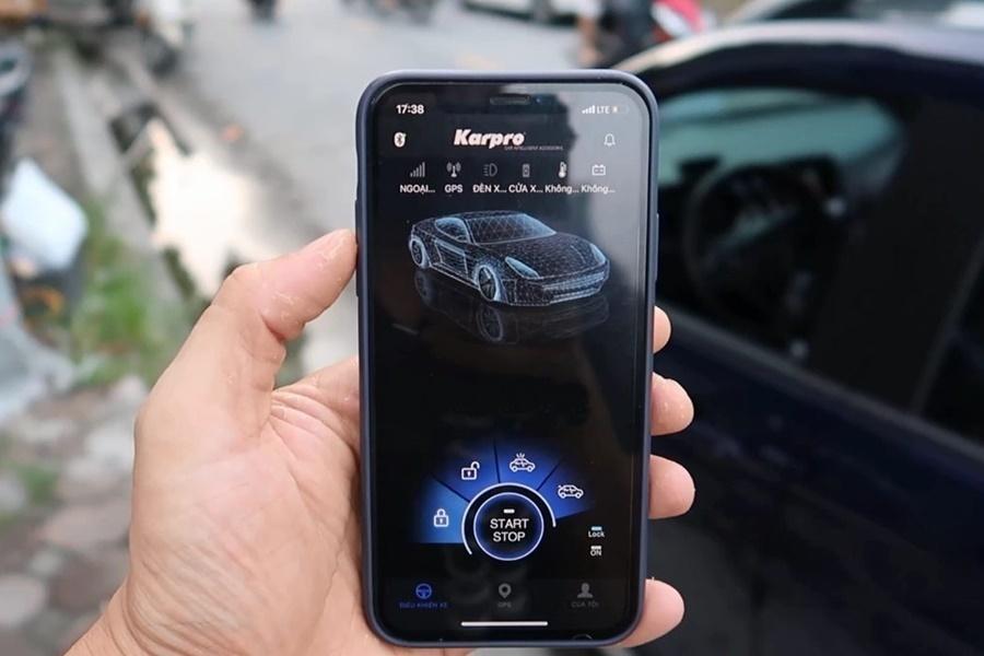 Tính năng đề nổ trên điện thoại Smartkey Karpro