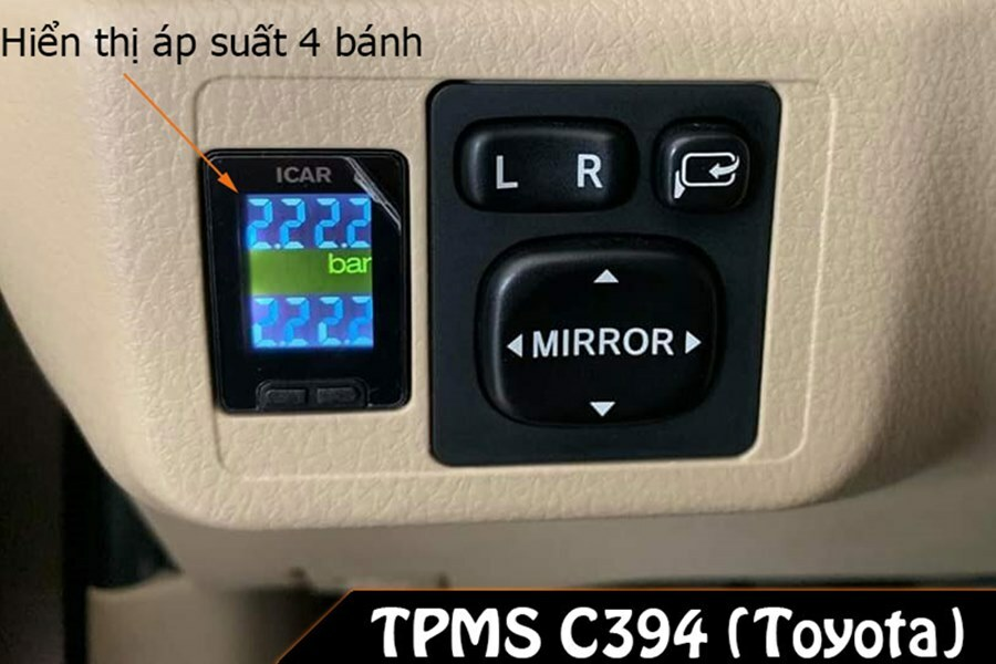 Hệ thống cảm biến cảnh báo áp suất lốp cho xe Toyota TPMS C394 - Hình 1