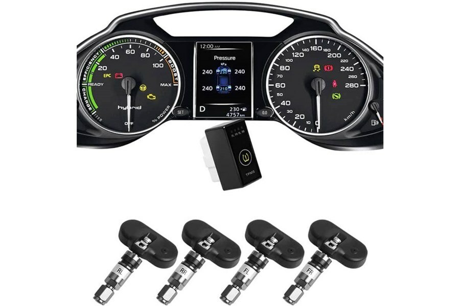Hệ thống cảm biến cảnh báo áp suất lốp i Serials theo xe Ellisafe i1X (màn ODO) - Hình 1