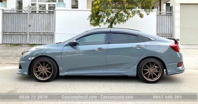 Honda Civic wrap - dán đổi màu decal xám xi măng
