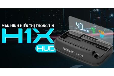HUD VIETMAP H1X trên HONDA CIVIC. Khởi động theo xe. Cảnh báo tốc độ, cảnh báo camera phạt nguội
