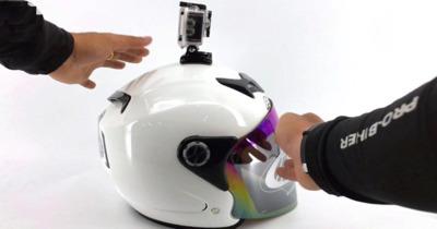【Hướng Dẫn】Cách gắn camera hành trình lên nón - mũ bảo hiểm