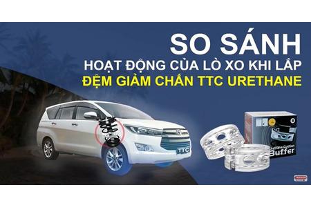 Kiểm tra thực tế về cách hoạt động của đệm giảm chấn - đệm giảm xóc TTC Urethane trên xe hơi