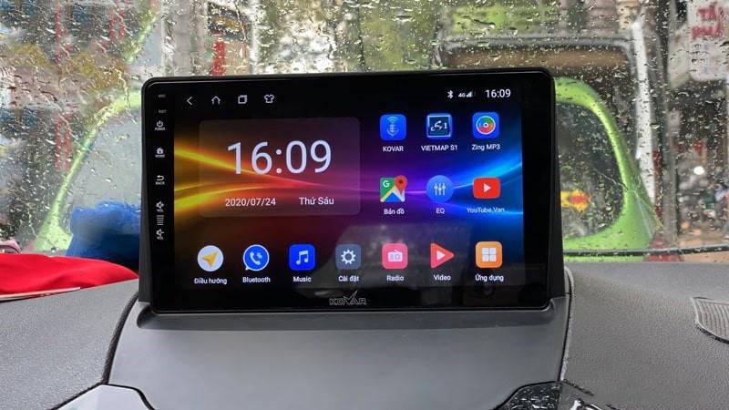 Màn hình android Kovar T2 cho ô tô có giá 9,5 triệu đồng