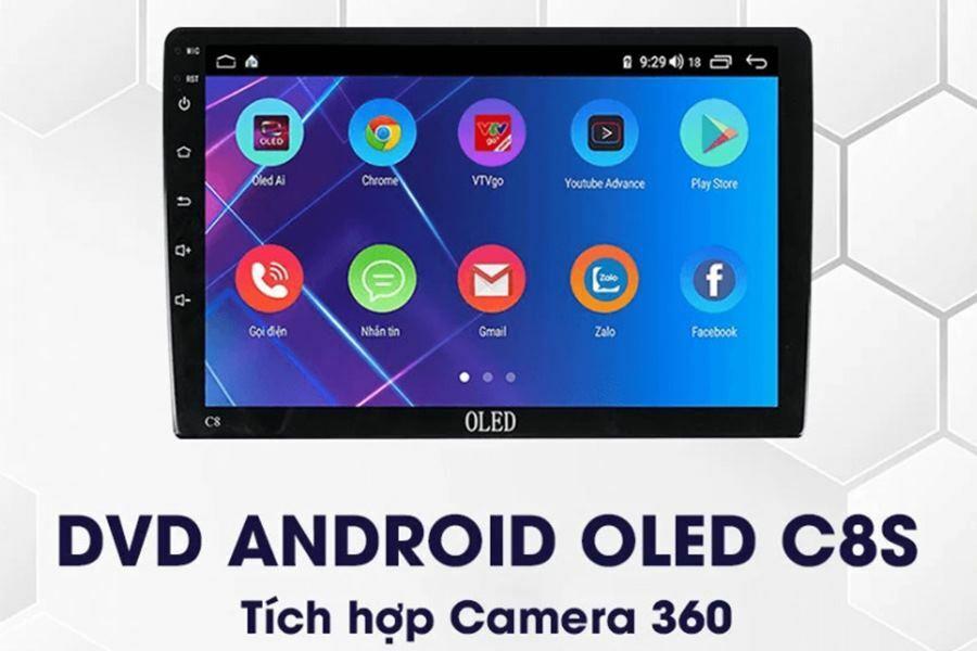 Màn hình DVD Android tích hợp camera 360 Oled C8s New - Hình 3