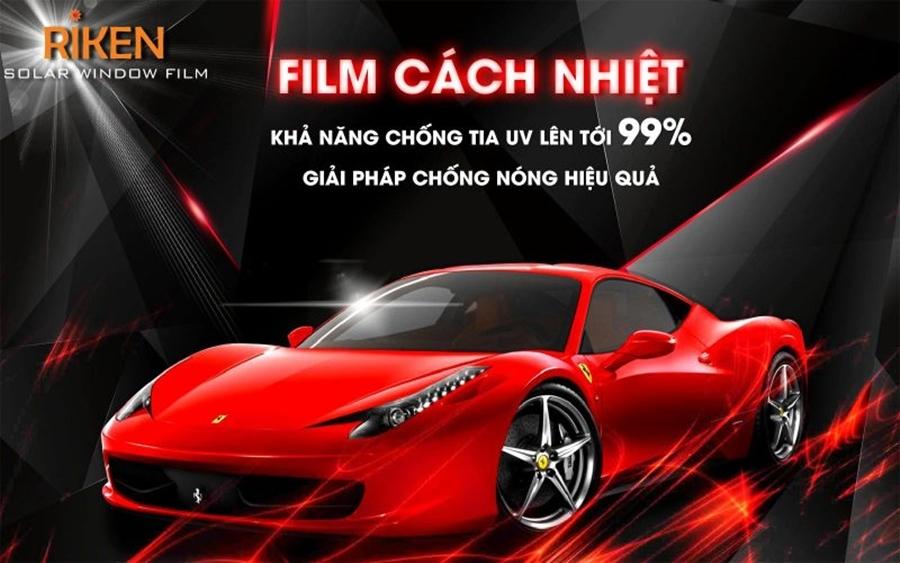 Phim cách nhiệt Riken đang là lựa chọn hàng đầu của nhiều chủ xe ô tô.