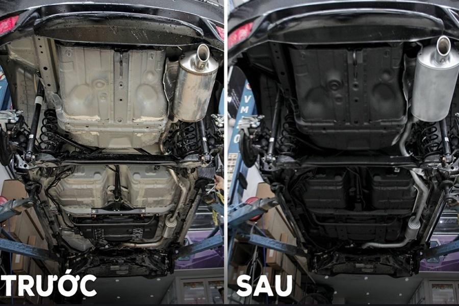 Phủ gầm chống gỉ - giảm ồn cho xe ô tô 4 chỗ - Hình 4