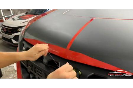 Sử dụng CHỈ CẮT DECAL CHUYÊN DỤNG để không ảnh hưởng đến sơn xe