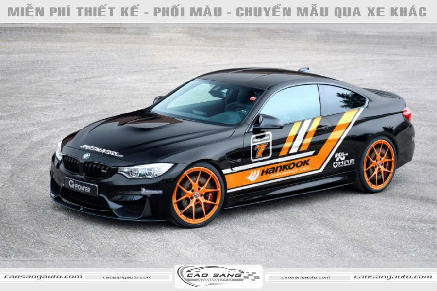 Tem xe BMW đen cam