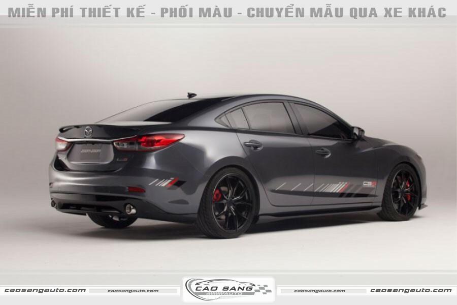 Tem đơn giản xe Mazda