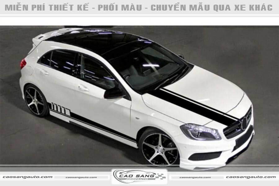 Tem xe Meredes trắng đen đẹp