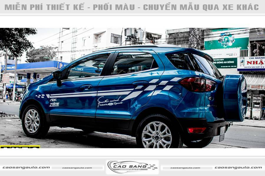 Tem xe Ford Eco Sport đẹp