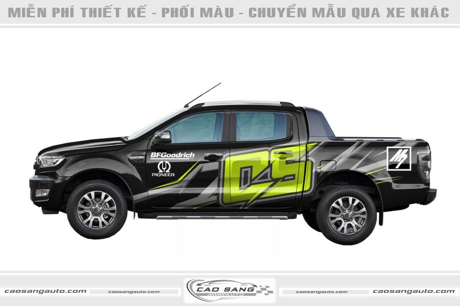 Tem chế Ford Ranger đẹp