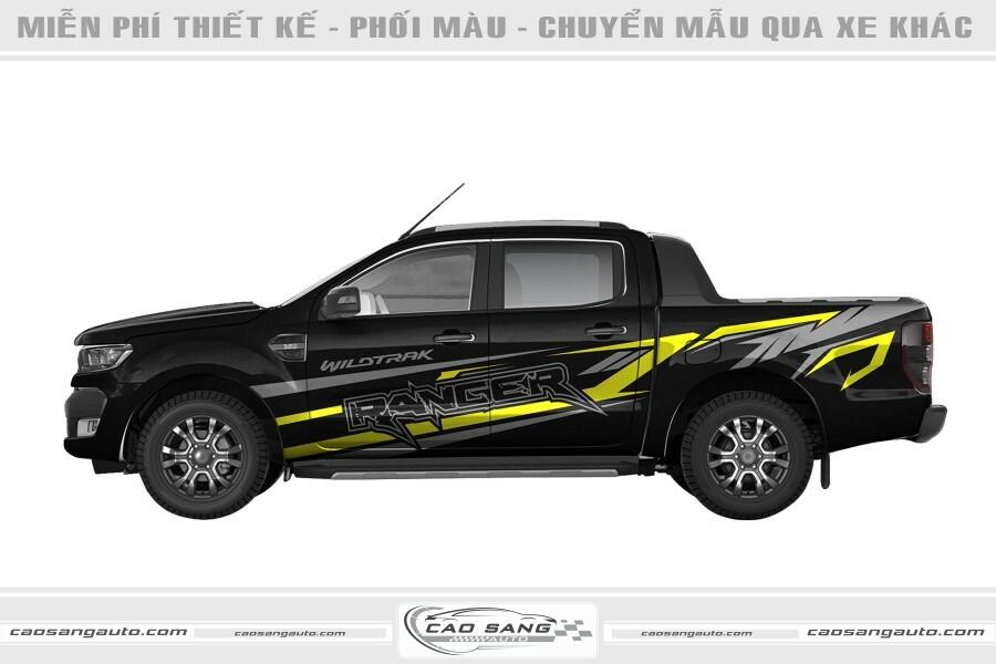 Tem xe Ranger Wildtrack vàng đen