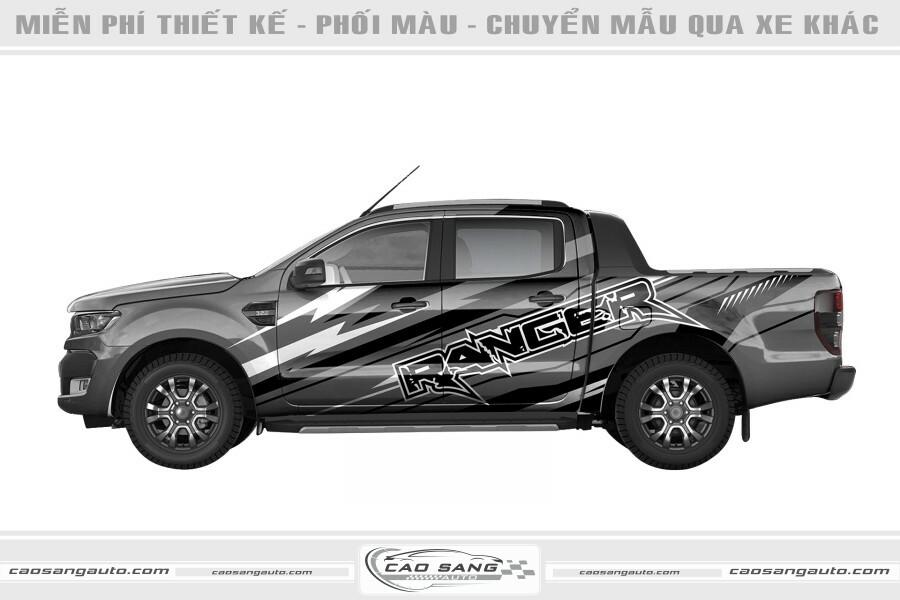 Tem xe Ranger xám đen