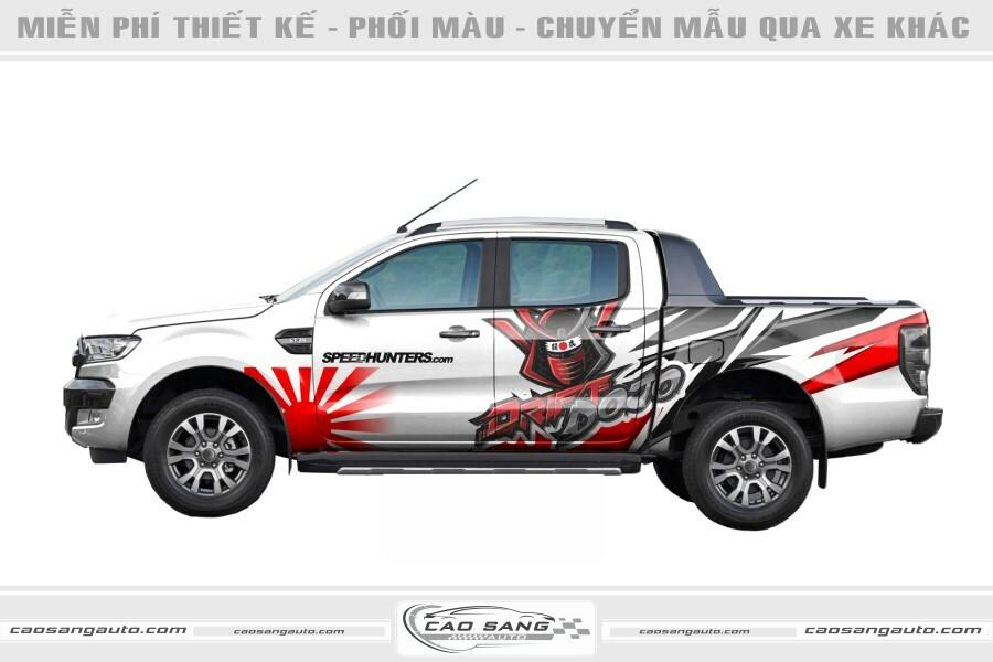 Tem xe bán tải Samurai đẹp