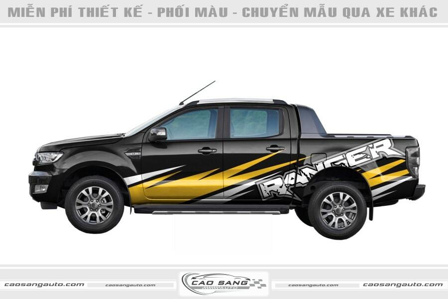 Tem xe Ranger vàng đen