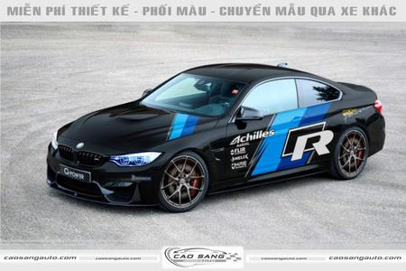 Tem xe BMW xanh đen