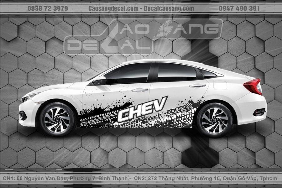 Tem xe Honda Civic CHEV