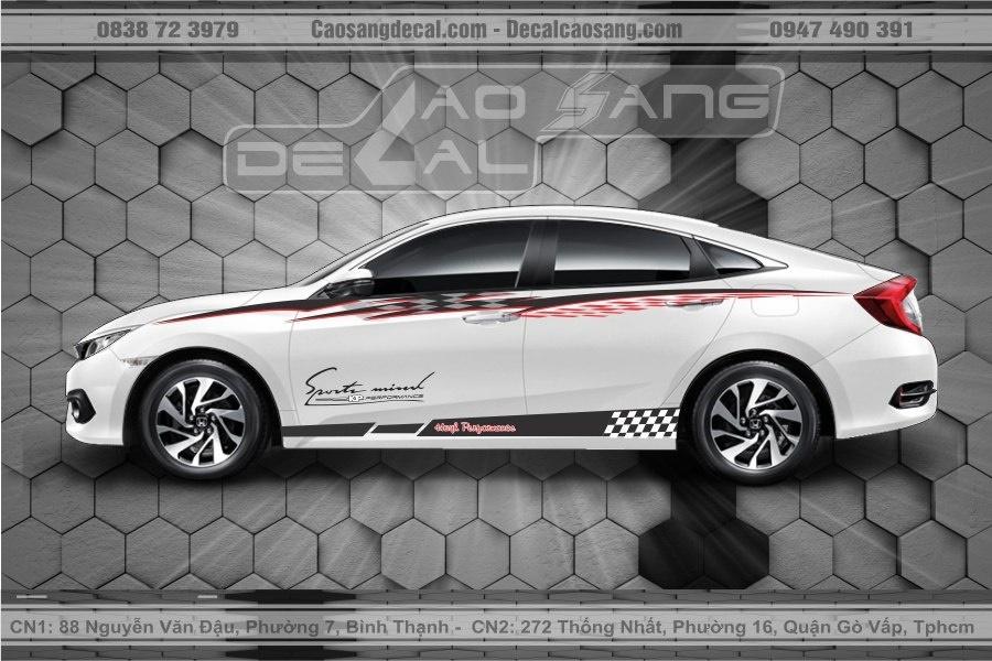 Tem xe Honda Civic thể thao