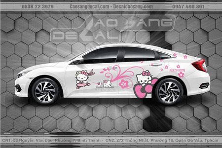 Tem xe Honda Civic Hello Kitty đẹp
