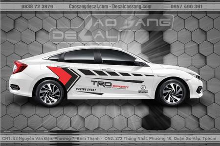 Tem xe Honda Civic Racing Sport