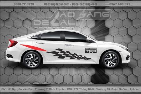 Tem xe Honda Civic Sport đẹp