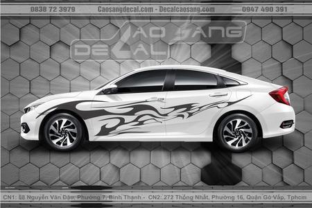 Tem xe Honda Civic trắng đen đẹp