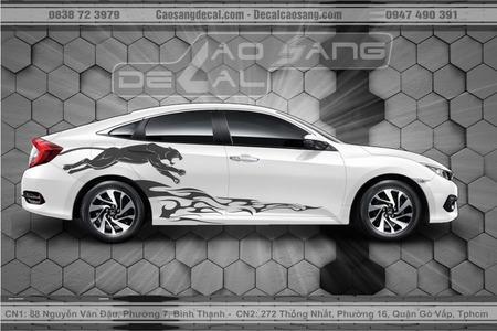 Tem xe Honda Civic trắng đen đẹp nhất