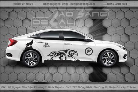 Tem xe Honda Civic WOLF