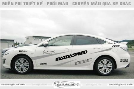 Tem xe Mazda đẹp