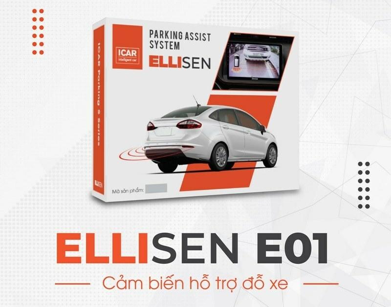 Cảm biến lùi kiểu zin nguyên bản 4 mắt – Ellisen E01