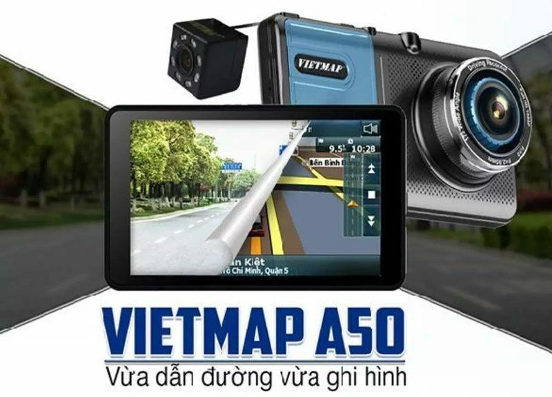 Camera hành trình Vietmap tích hợp camera lùi A50